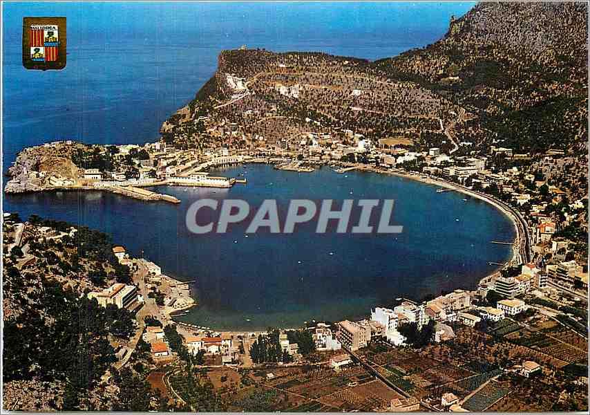 Moderne Karte Mallorca Puerto de Sollar vue aerienne 0