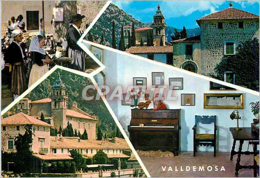 Moderne Karte Valldemosa Mallorca 0