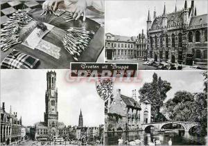Moderne Karte Bruges Groeten uit Brugge un bonjour de Bruges