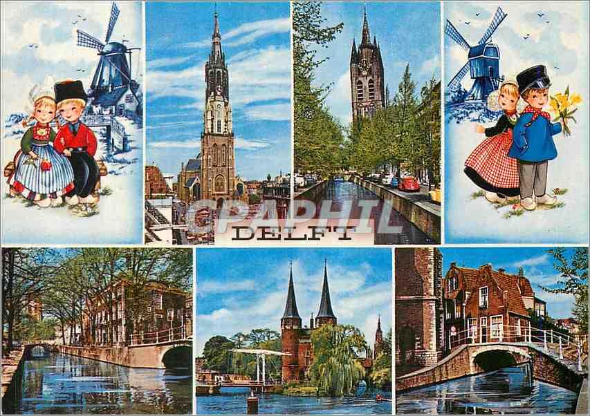 Moderne Karte Delft Moulin 0