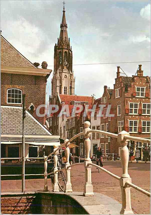 Moderne Karte Delft Camaretten met Nieuwe Kerk 0