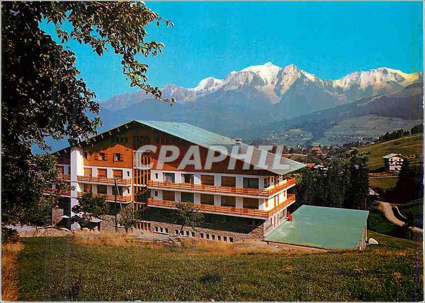 Moderne Karte Combloux (Haute savoie) Balcon du Mont Blanc le Centre de relaxation et le Massif du Mont Blanc 0