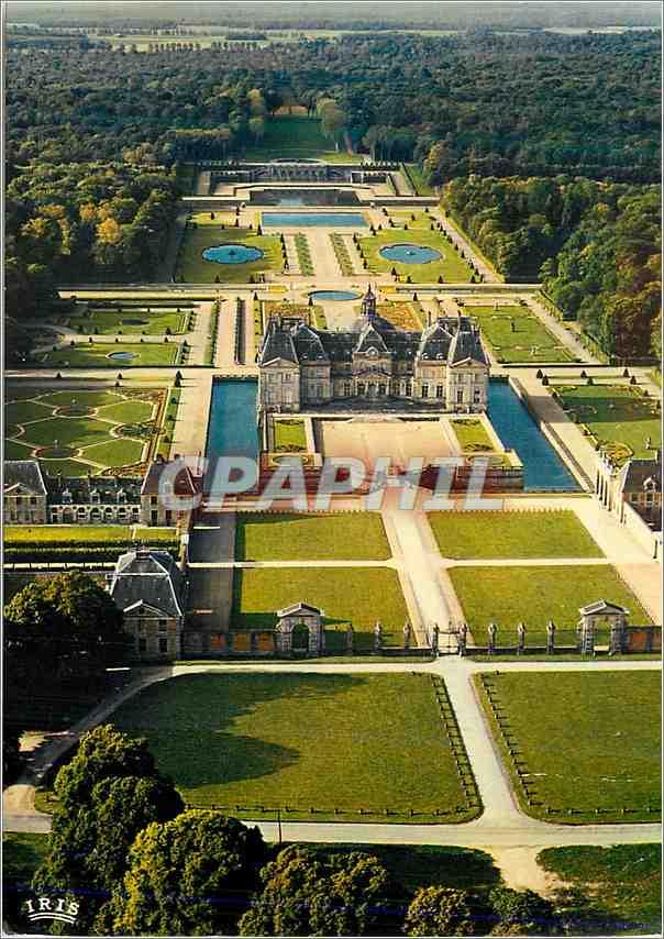 Moderne Karte Chateau de Vaux le Vicomte Acces Nord et Vue generale du domaine Construit par le Vau de 1656 a 0