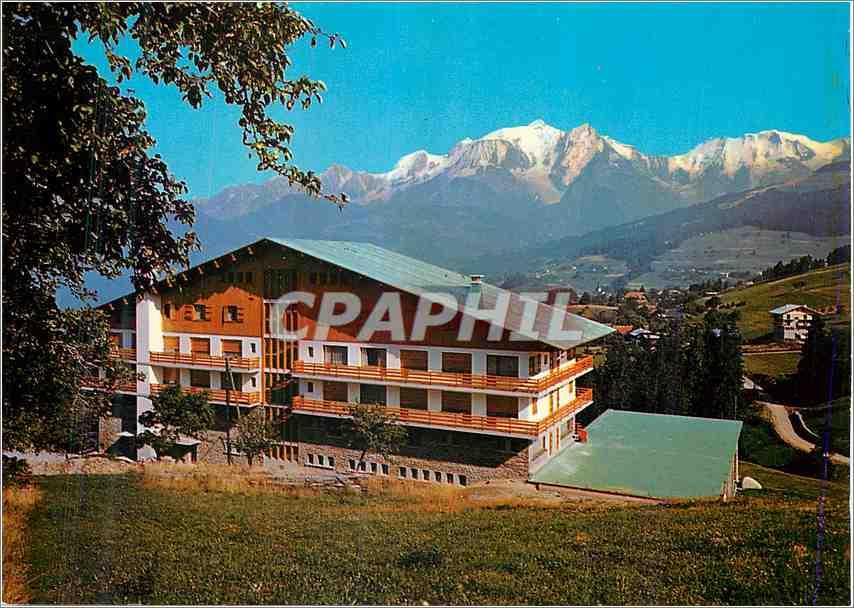 Moderne Karte Combloux (Haute savoie) Balcon du Mont Blanc Le CNetre de relaxation et le Massif du Mont blanc 0