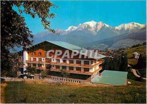 Moderne Karte Combloux (Haute savoie) Balcon du Mont Blanc Le CNetre de relaxation et le Massif du Mont blanc