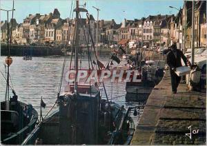 Moderne Karte La Bretagne en couleurs Le Croisic Le port de peche et les quais Bateaux de peche