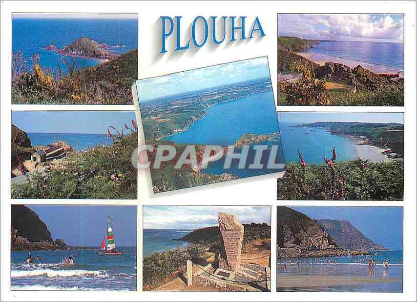 Moderne Karte Couleurs de Bretagne Plouha (Cotes d'Armor)Les falaises les plages et le monument de l'anse Coch 0