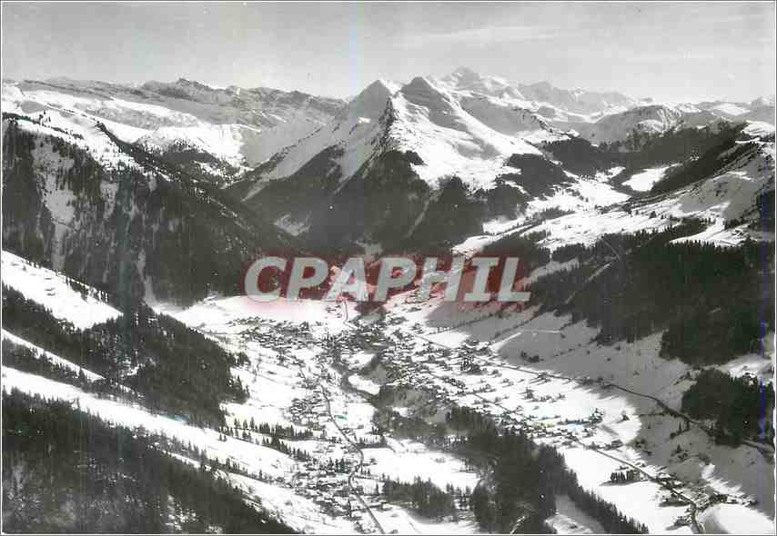 Moderne Karte Morzine (Hte Savoie)et le Mont Blanc 0