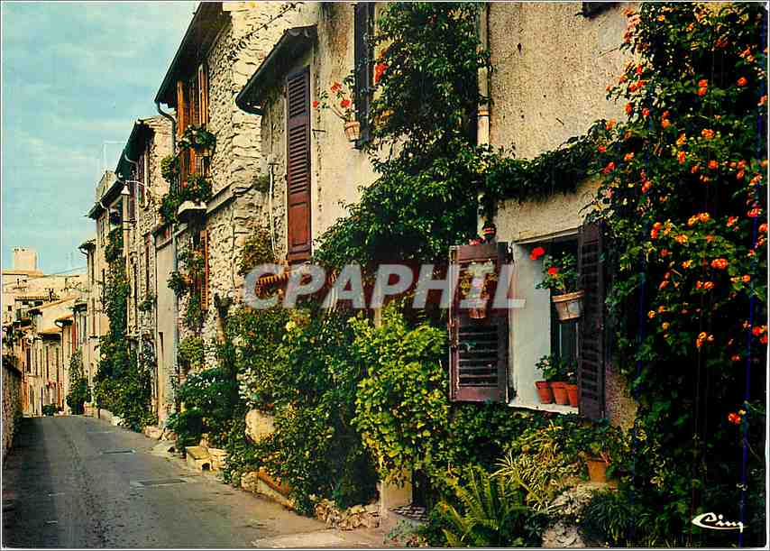 Moderne Karte Antibes (Alpes Mar)Rue du Haut Castelet 0