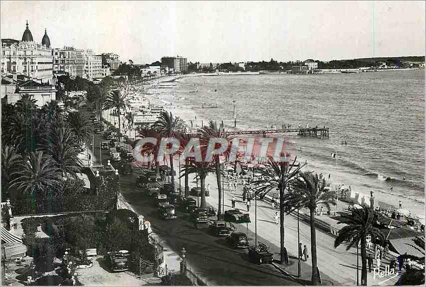 Moderne Karte La cote d'Azur Cannes Promenade de la Croisette 0