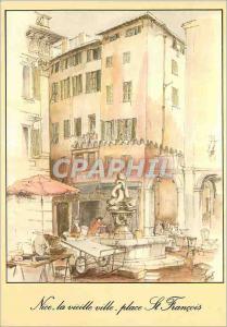 Moderne Karte La Cote d'Azur inoubliable Nice La vieille place St Francois
