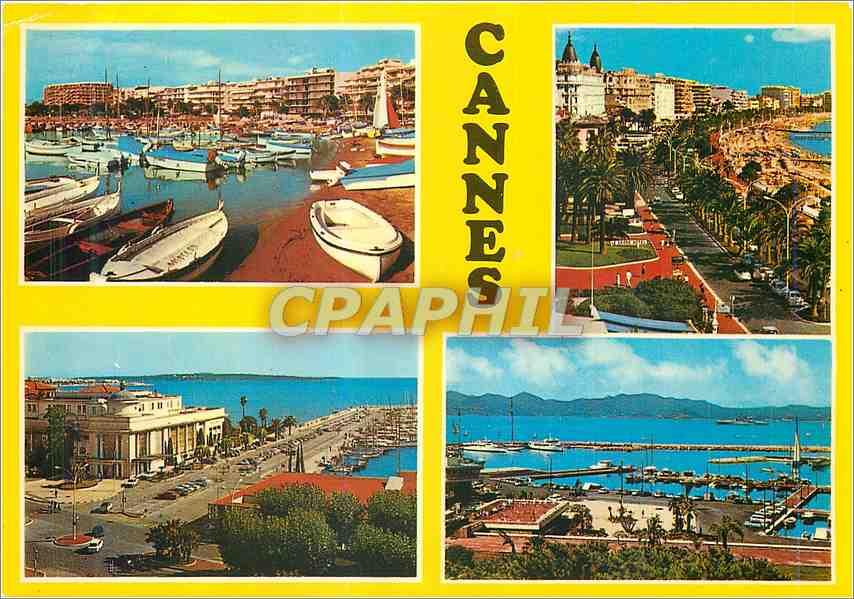 Moderne Karte Cannes Souvenir de Cannes 0