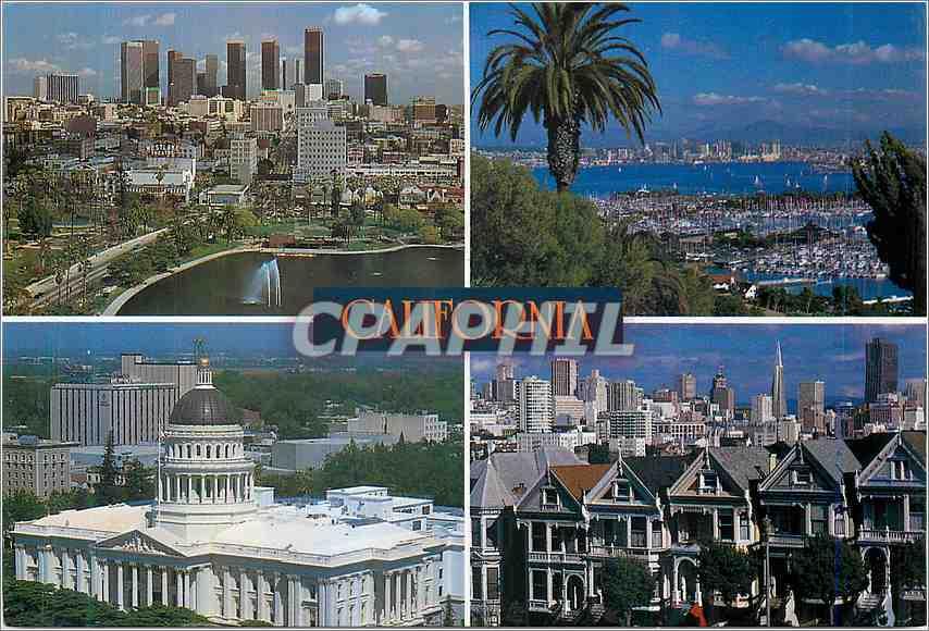 Moderne Karte California's great Cities 0