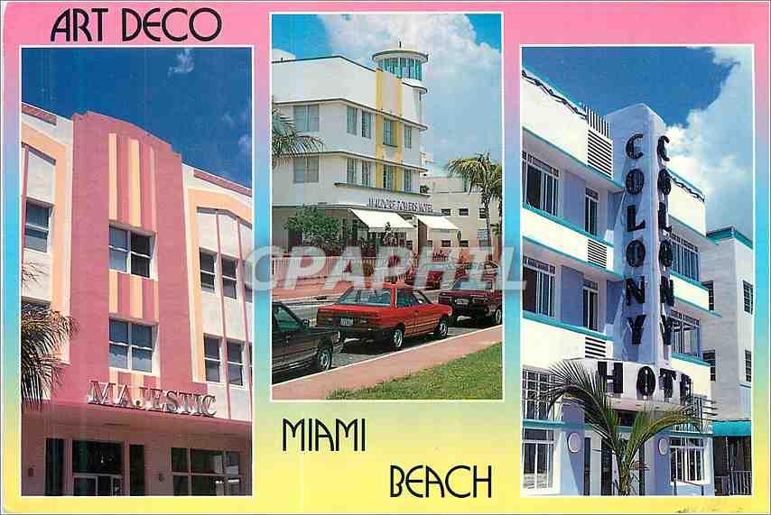 Moderne Karte Florida Impressions Miami Beach 0