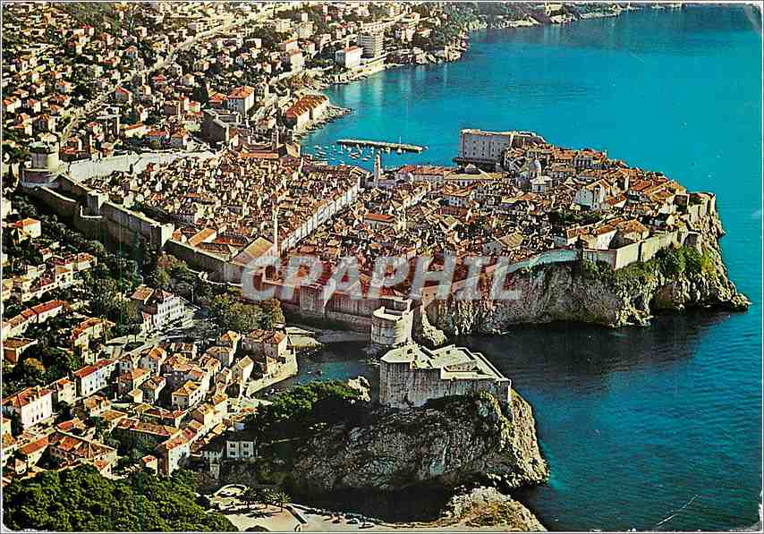 Moderne Karte Dubrovnik Panorama General View 0