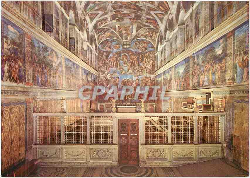 Moderne Karte Roma Vaticano Interno Cappella Sistina 0