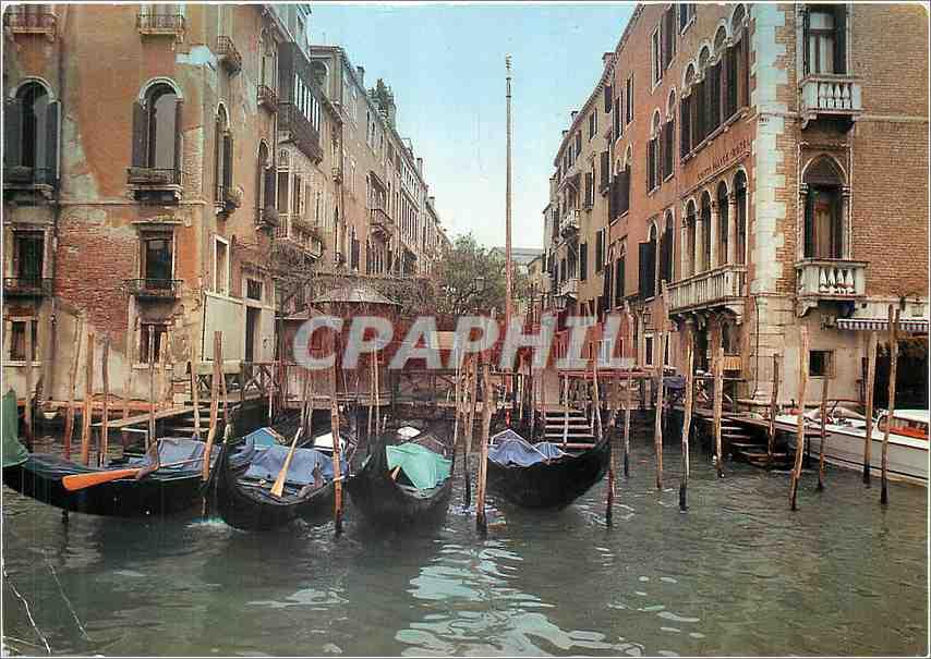 Moderne Karte Venezia Bateaux 0