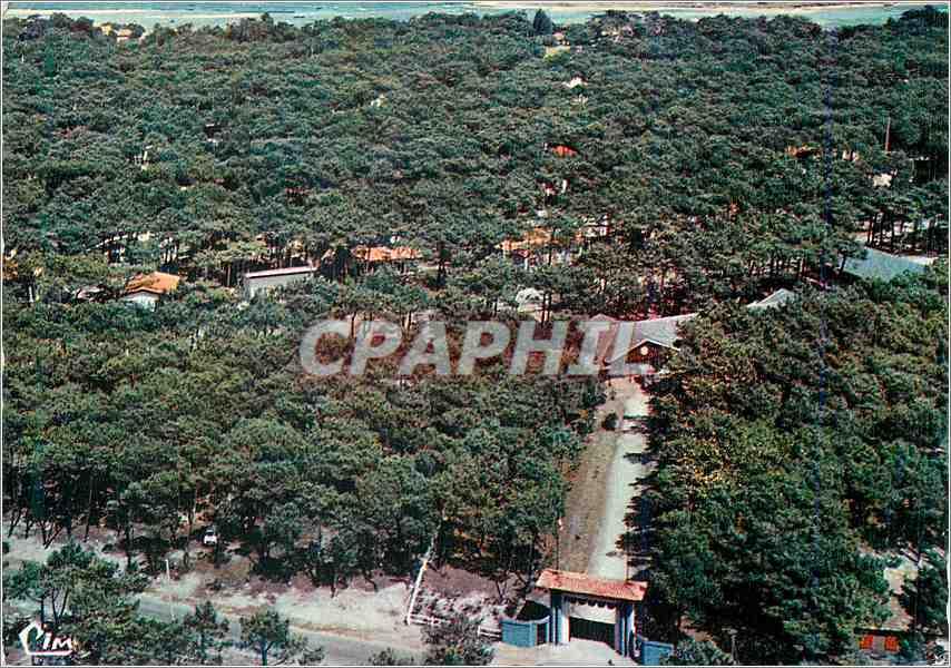 Moderne Karte Cap Ferret Gironde Vue aerienne Maison des Enfants du Spectacle 0
