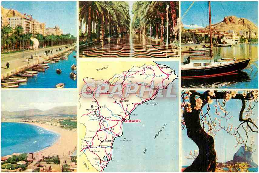 Moderne Karte Alicante (Espana)Cote Blanche 0