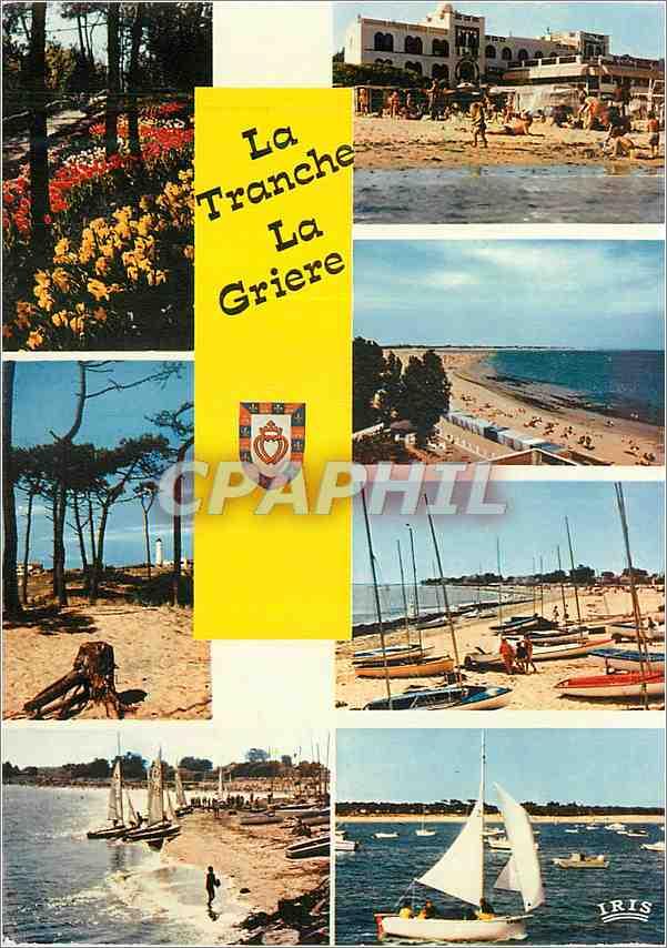 Moderne Karte Cote de Lumiere La Tranche Sur Mer La Griere Les Floralies La phare du Groin 0