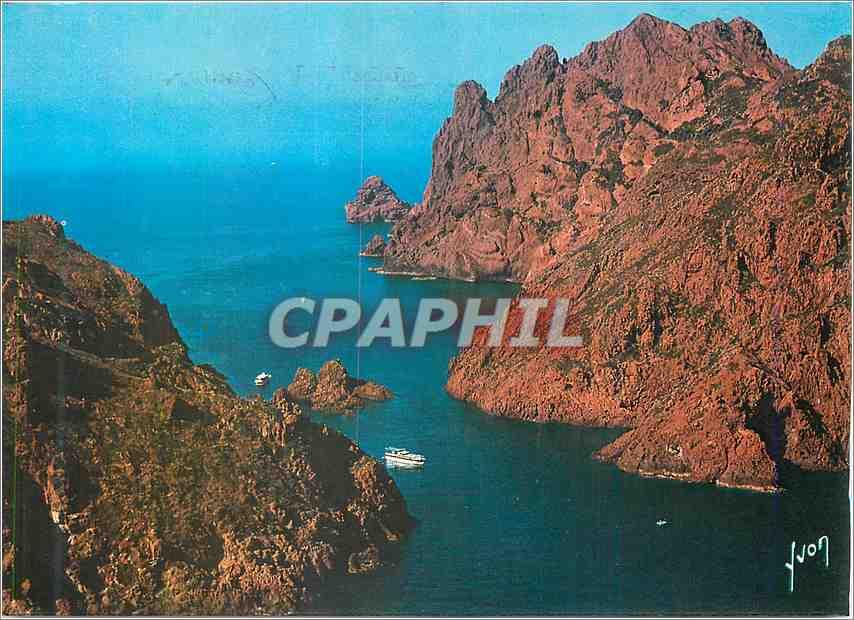 Moderne Karte Couleurs et Lumiere de France La Corse oasis de Beaute Golfe de Porto Paysage sauvage et magnifi 0
