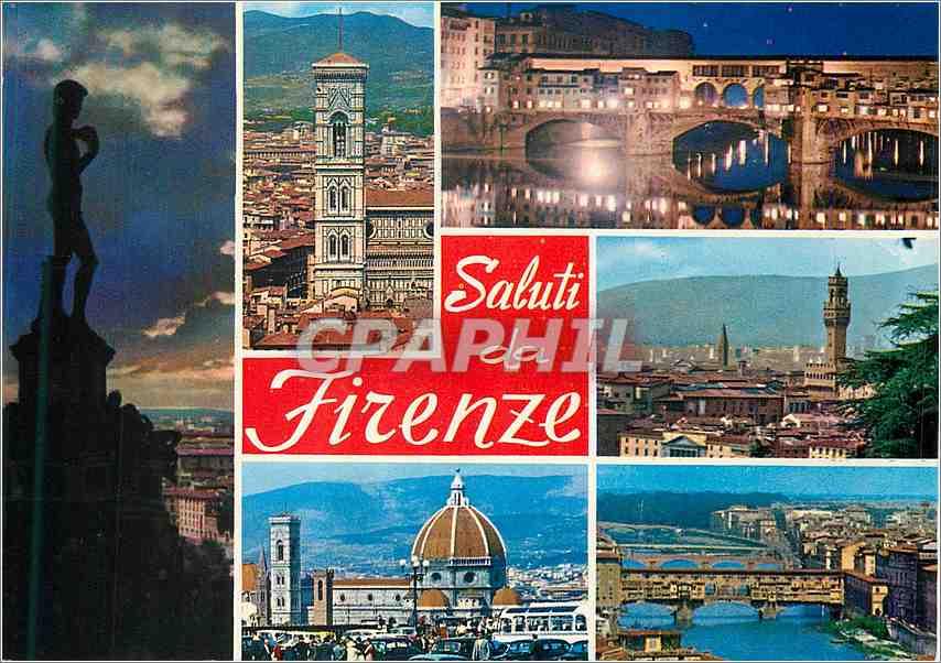 Moderne Karte Saluti Firenze 0