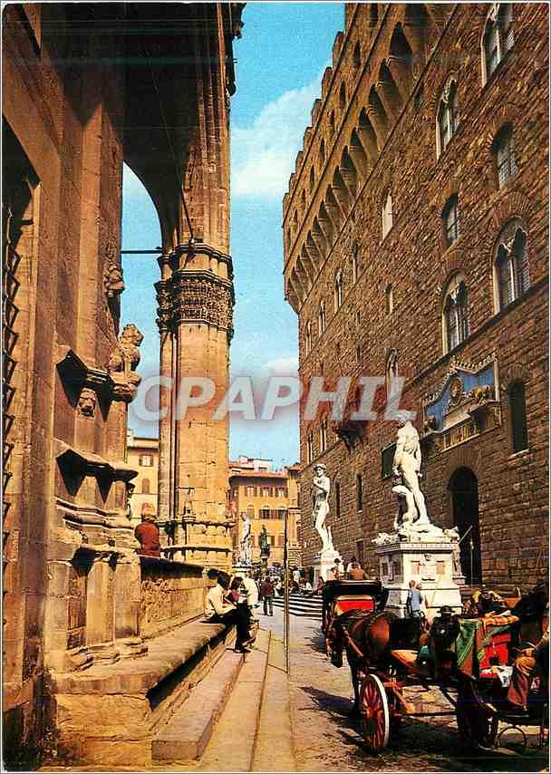 Moderne Karte Firenze Place Signoria (Detail) 0