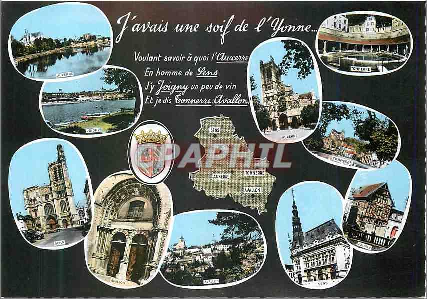 Moderne Karte Souvenir de L'Yonne Auxerre Tonnerre 0
