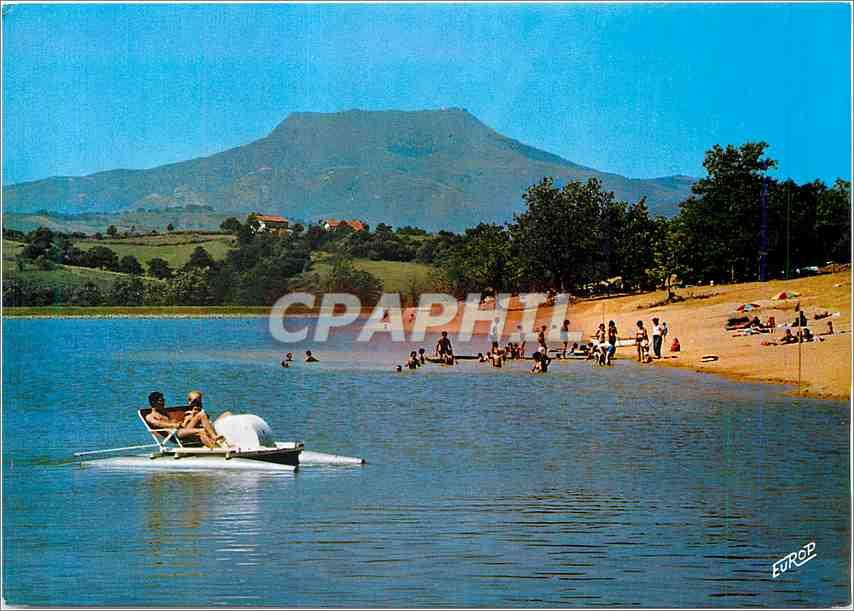 Moderne Karte En Pays Basque Saint Pee s Nivelle le Lac Alain Cami Une des Plages face a la Rhune 0