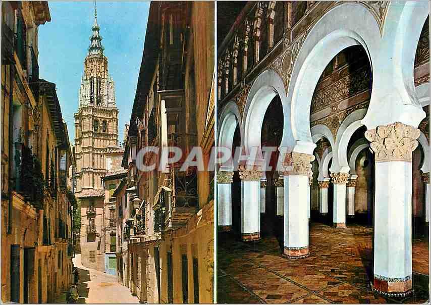 Moderne Karte Toledo Rue de Santa Isabel et Santa Maria la Blanche 0