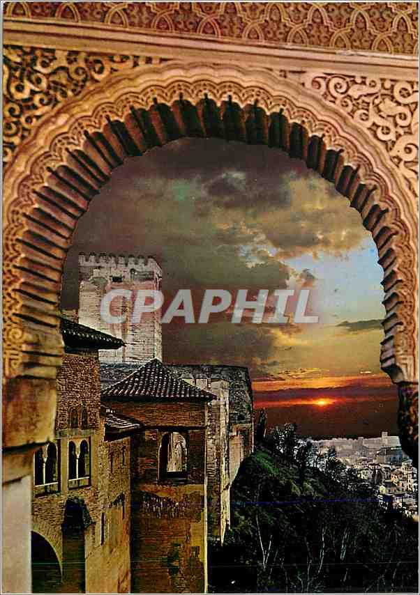 Moderne Karte Granada Alhabra Coucher du Soleil 0