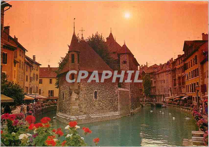 Moderne Karte Annecy (France)Haute Savoie La Vieille Ville 0