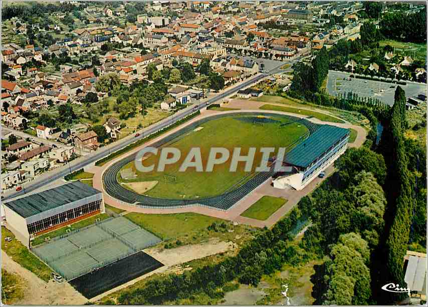 Moderne Karte Montataire (Oise)L'ensemble sportif vue aerienne 0
