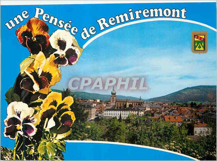 Moderne Karte Remiremont (Vosges)Vue generale 0