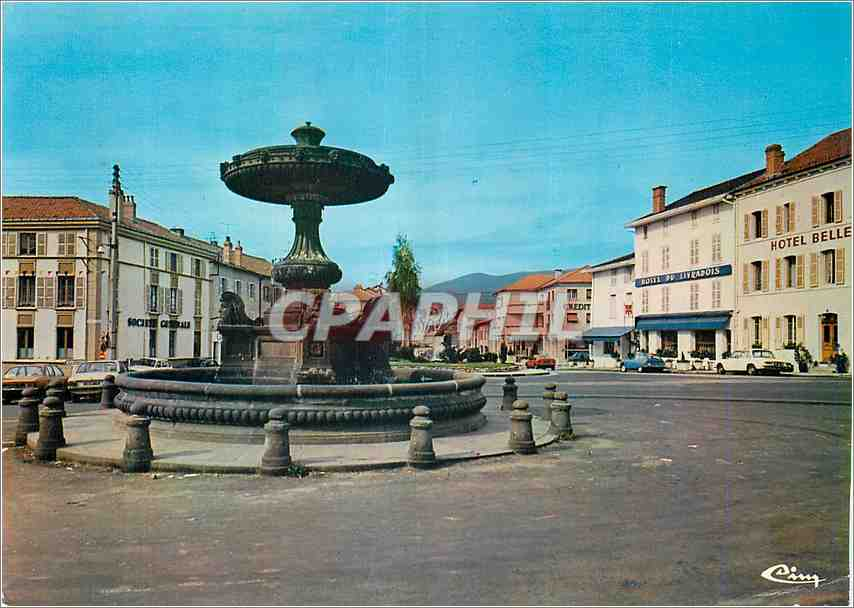 Moderne Karte Ambert (P de D)La fontaine 0