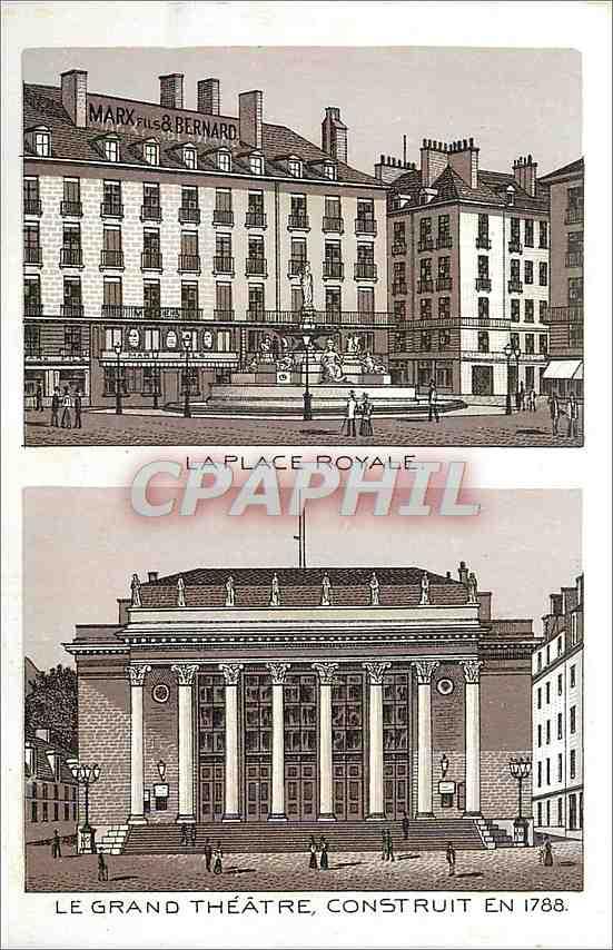 Ansichtskarte AK La Place Royale le Grand theatre Construit en 1788 0