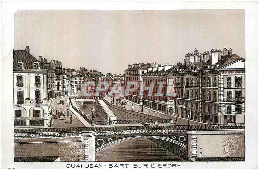 Ansichtskarte AK Quai Jean Bart Sur L'Erdre 0