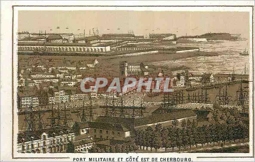 Ansichtskarte AK Port Militaire et Cote est de Chergourg 0