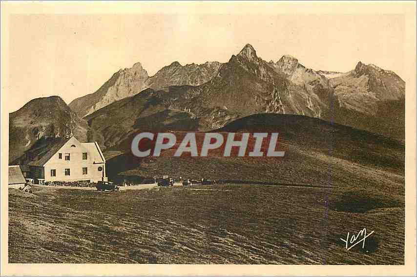 Ansichtskarte AK Les Pyrenees Route thermale Des Eaux Bonnes a Argules Gazost Le Col d'Aubisque Hotellerie Vue ma 0
