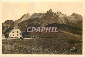 Ansichtskarte AK Les Pyrenees Route thermale Des Eaux Bonnes a Argules Gazost Le Col d'Aubisque Hotellerie Vue ma