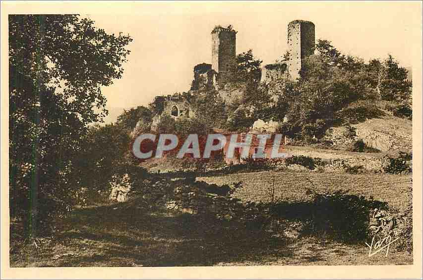Ansichtskarte AK Les Pyrenees Argules Gazost (Htes Pyrenees) Ruines du Chateau de Beaucens (XIIe et XVI siecles) 0