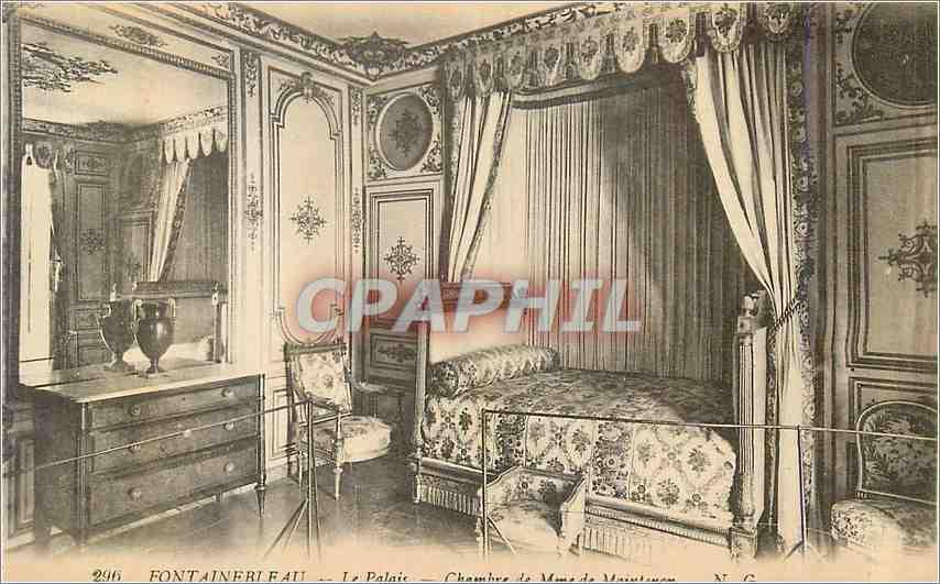 Ansichtskarte AK Fontainebleau Le Palais Chambre de Mme de Maintenon 0