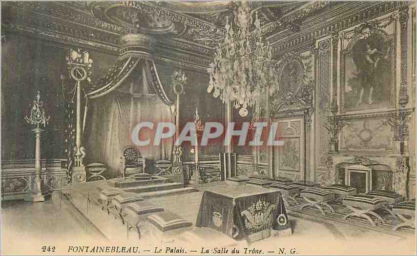 Ansichtskarte AK Fontainebleau Le Palais La Salle du Trone 0