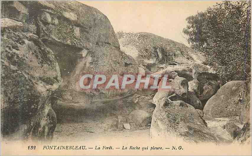Ansichtskarte AK Fontainebleau La Foret La Roche que pleure 0