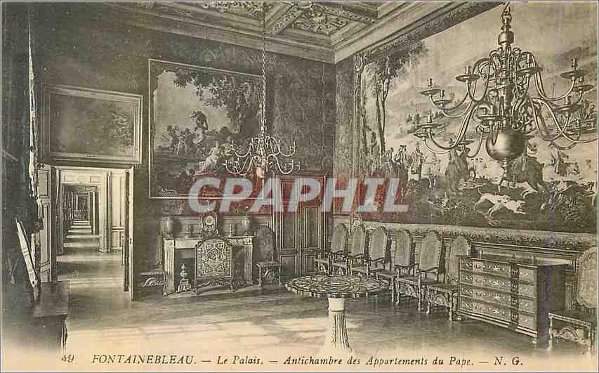 Ansichtskarte AK Fontainebleau Le Palais Antichambre des Appartements du Pape 0