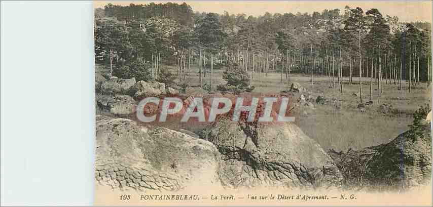 Ansichtskarte AK Fontainebleau La Foret Vue sur le Desert d'Aprement 0