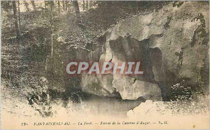 Ansichtskarte AK Fontainebleau La Foret Entree de la Caverne d'Augat 0