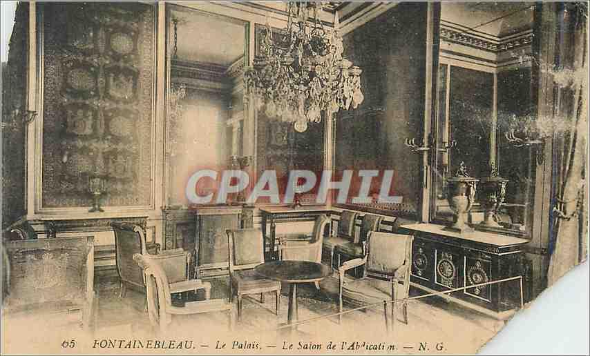 Ansichtskarte AK Fontainebeleau Le Palais Le Salon de L'Abdication 0