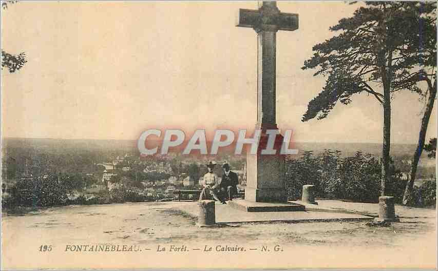Ansichtskarte AK Fontainebleau La Foret le Calvaire 0