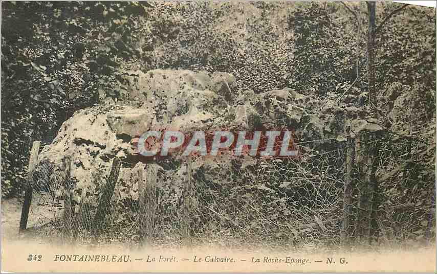 Ansichtskarte AK Fontainebleau La Foret le Calvaire La Roche Eponge 0